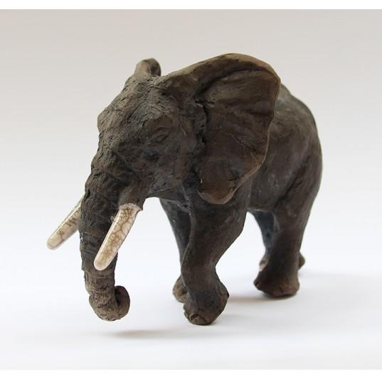 Ceramic Bull Elephant