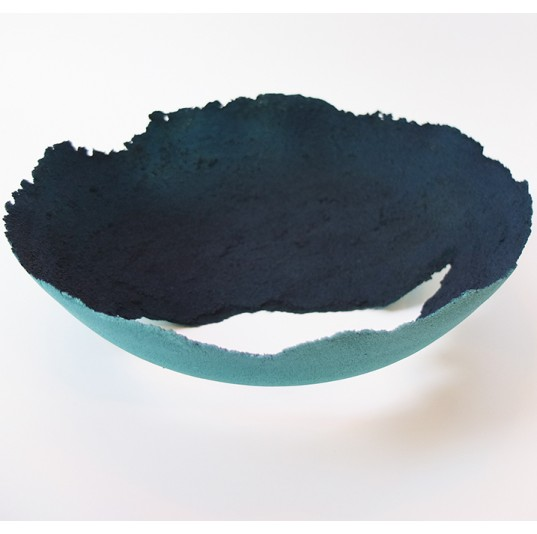Low Glass Bowl - Pate De Verre Technique