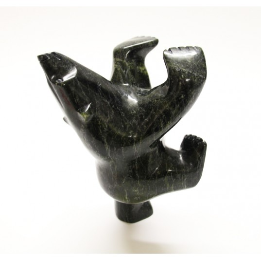 Inuit Serpentine Stone Carving - Dancing Bear