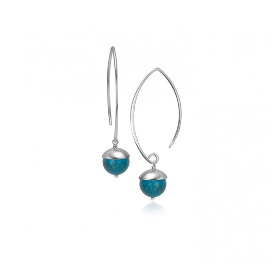 Acorn Earrings - Turquoise