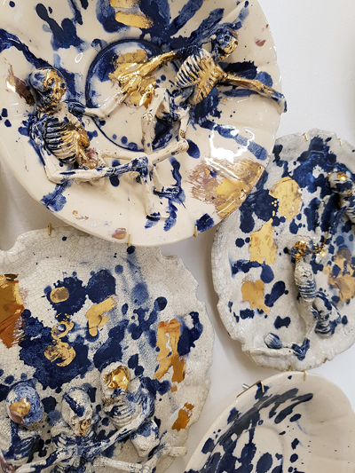 Joon He Kim Where Blue is Found is Where you Are Ceramic glaze gold lustre 20162