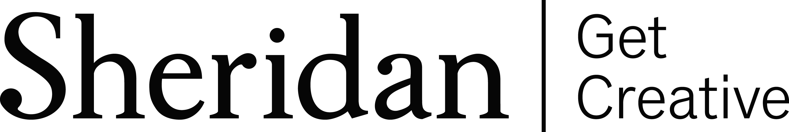 Sheridan Wordmark  Tagline - BLACK