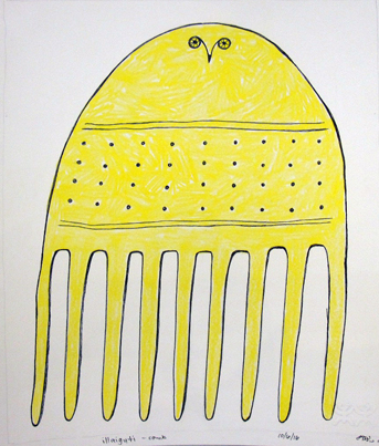 Ningeokuluk Teevee Original Drawing - Comb